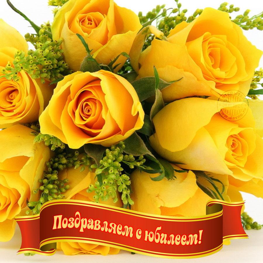 Желтые розы с поздравлениями 718