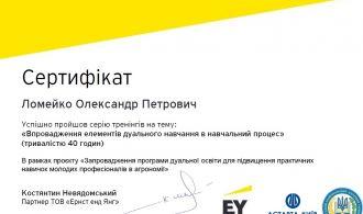 Сертифікат Ломейко