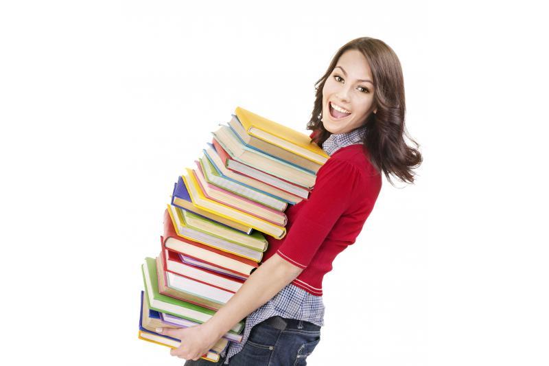 студентка скнигами